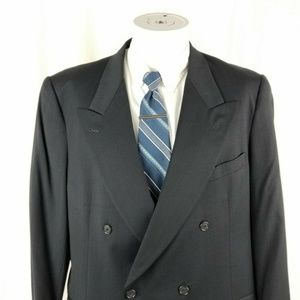 42R Gold Trumpeter Double Breasted Wool Sport Coat